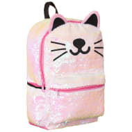 Animal Sequin Backpack - Cat