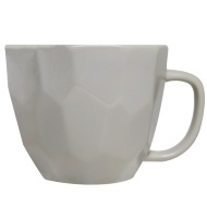 Geo Sculptured Mug - Grey