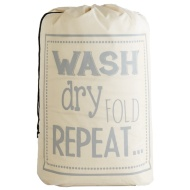 Slogan Laundry Bag - Wash Dry Repeat