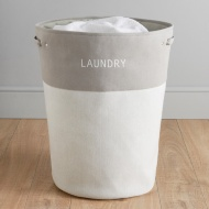 Large Drawstring Laundry Hamper - Grey