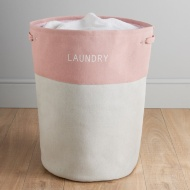 Large Drawstring Laundry Hamper - Pink