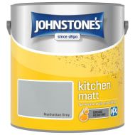 Johnstone's Paint Kitchen Matt - Manhattan Grey 2.5L