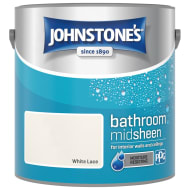 Johnstone's Paint Bathroom Midsheen - White Lace 2.5L