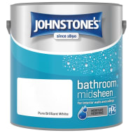 Johnstone's Paint Bathroom Midsheen - Pure Brilliant White 2.5L