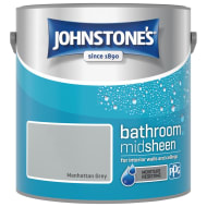 Johnstone's Paint Bathroom Midsheen - Manhattan Grey 2.5L