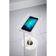 Toilet Roll Stand & Phone Holder - White