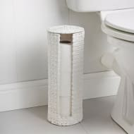 Wicker Effect Toilet Roll Holder