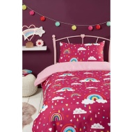 Kids Single Duvet Set - Rainbows