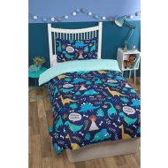 Boys Single Duvet Set - Dinosaurs