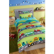 Boys Single Duvet Set - Trucks