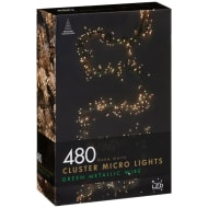 Christmas Cluster Micro Lights 480pk - Warm White