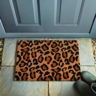Animal Print Coir Doormat - Leopard