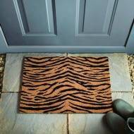 Animal Print Coir Doormat - Tiger