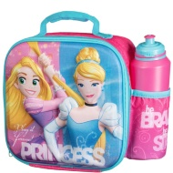 3D Lunch Bag with Bottle Bag - Disney Princess