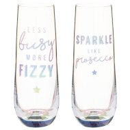 Stemless Prosecco Glasses 2pk