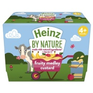 Heinz By Nature Fruity Medley Custard 4 x 100g