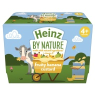 Heinz By Nature Fruity Banana Custard 4 x 100g