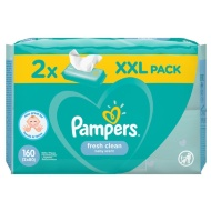Pampers Fresh Clean Baby Scent Wipes 2 x 80pk