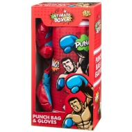 Kids Boxing Gloves & Punch Bag - Red