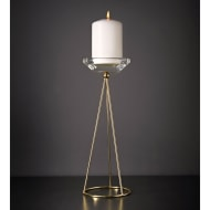 Large Gold Wire Candle Stick Holder