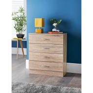 Lokken Oak Finish 4 Drawer Chest