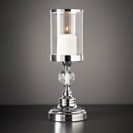 Crystal Effect Chrome Candle Holder