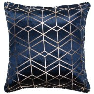 Lexi Metallic Geo Cushion 48 x 48cm - Navy