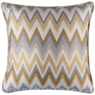 Karina Bailey Chevron Jacquard Cushion - Ochre