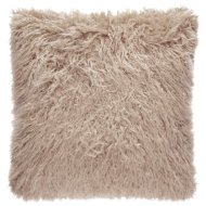 Mongolian Faux Fur Cushion - Mink