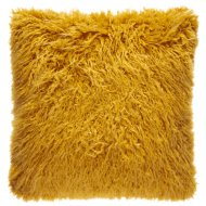 Mongolian Faux Fur Cushion - Ochre