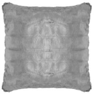 Luxury Sable Faux Fur Cushion - Charcoal