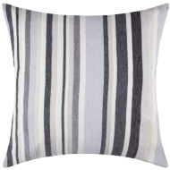 Chenille Stripe Cushion - Grey