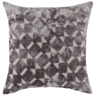 Radcliffe Double Sided Velvet Cushion - Charcoal