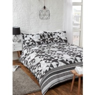 Geo King Duvet Set - Mono