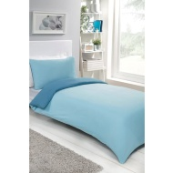 Reversible Single Duvet Set - Blue