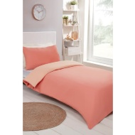 Reversible Single Duvet Set - Coral