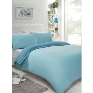 Reversible Double Duvet Set - Blue