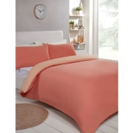 Reversible King Duvet Set - Coral