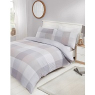 Check King Duvet Set - Natural