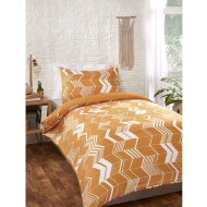 Chevron Single Duvet Set - Ochre