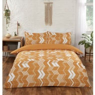 Chevron King Duvet Set - Ochre