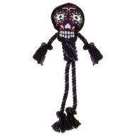 Halloween Dog Rope Toy - Purple Day of the Dead Skull