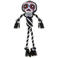 Halloween Dog Rope Toy - White Day of the Dead Skull