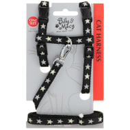 Billy & Macy Cat Harness - Black Stars