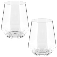 Angular Glass Tumblers 2pk