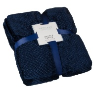 Heritage Collection Waffle Throw - Navy