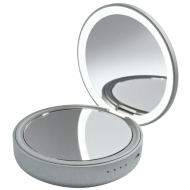 Goodmans Compact LED Mirror Power Bank - Silver