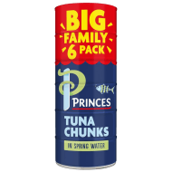 Princes Tuna Chunks in Spring Water 6pk
