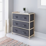 Addis 3 Drawer Canvas Unit