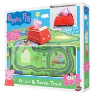 Peppa Pig Vehicle & Puzzle Track Set